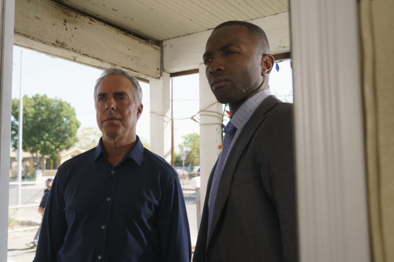 Harry Bosch (Titus Welliver) and Jerry Edgar (Jamie Hector) in Bosch season 5 photo credit: Lacey Terrell/Amazon Prime
