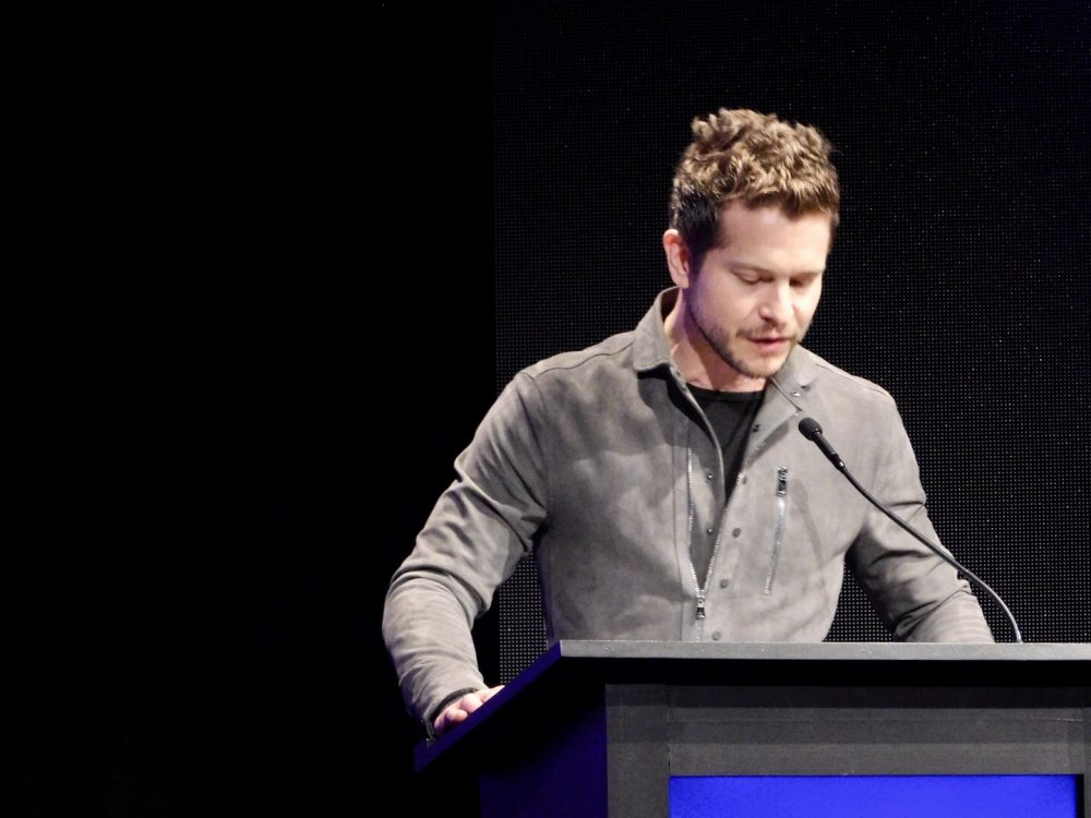 Actor Matt Czuchry accepts the Maverick Award at SCAD aTVfest 2020 photo credit: Tracey Phillipps/So Many Shows