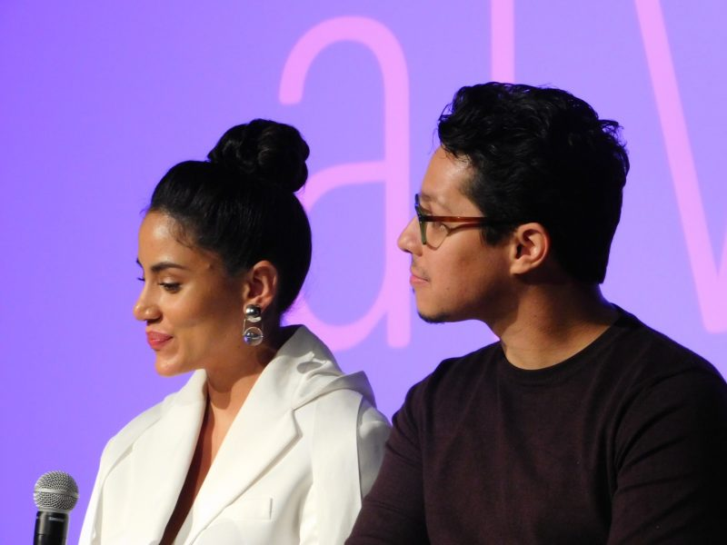 Actors Michelle Veintimilla and David Del Rio at SCAD aTVfest. Photo credit: Tracey Phillipps/So Many Shows