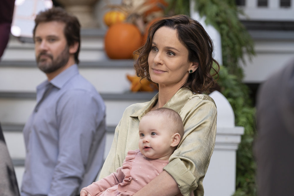 """COUNCIL OF DADS -- """"Tradition"""" Episode 105 -- Pictured: (l-r) Clive Standen as Anthony Lavelle, Baby Hope, Sarah Wayne Callies as Robin Perry -- (Photo by: Seth F. Johnson/NBC)"""