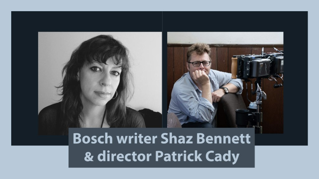 Bosch writer Shaz Bennett photo credit: S. Bennett Cinematographer Patrick Cady on the set of Bosch Photo credit: Aaron Epstein/Amazon