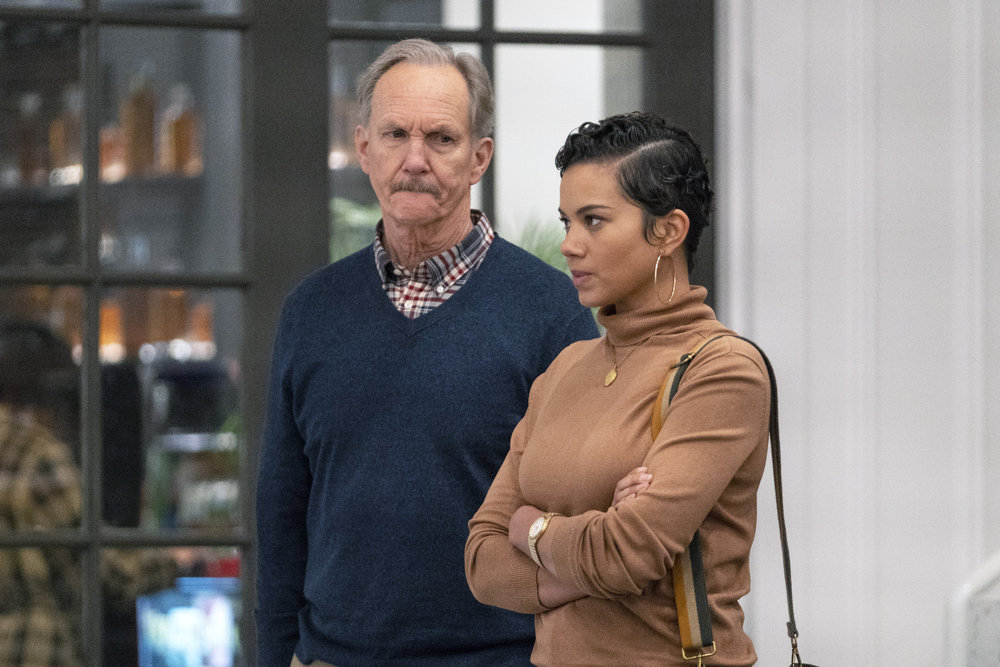 "COUNCIL OF DADS -- ""Dear Dad"" Episode 108 -- Pictured: (l-r) Michael O'Neill as Larry Mills, Michele Weaver as Luly Perry -- (Photo by: Seth F. Johnson/NBC)"