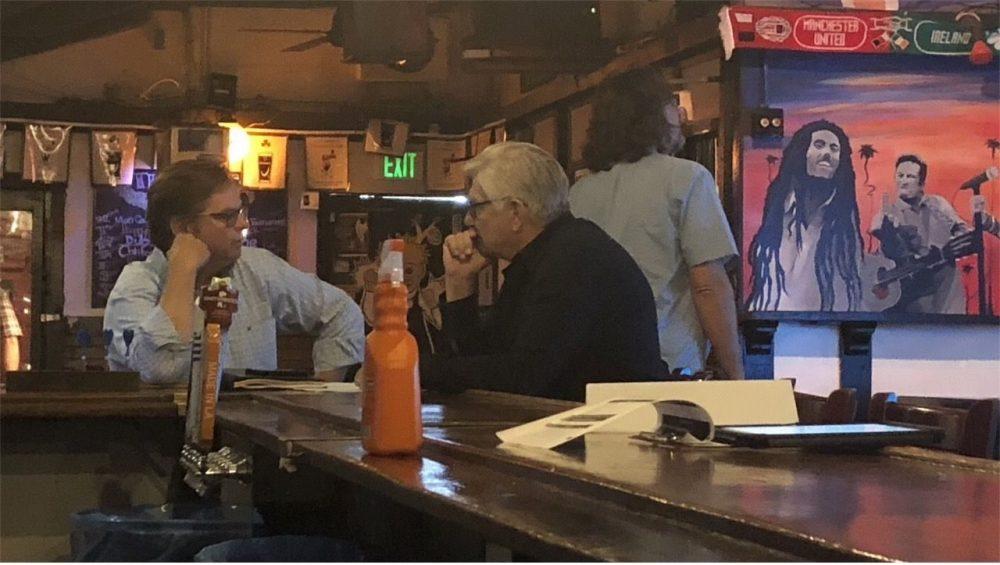 Bosch season 6 episode 5 director Trey Batchelor, talking to Chester Kaczenski, Production Designer photo credit: Patrick Cady