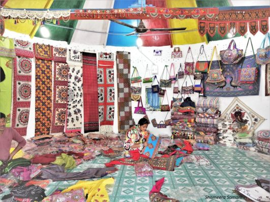 Handicrafts Being Sold in Bhungas