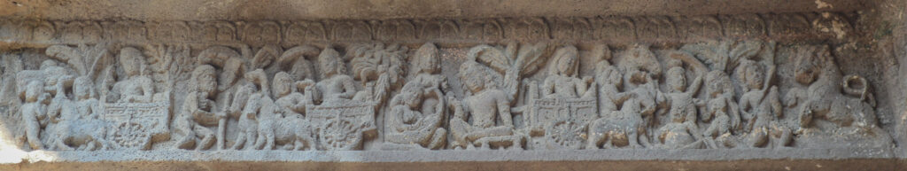 Prince Siddhartha and Three Phases of Human Life, Cave 1 Ajanta