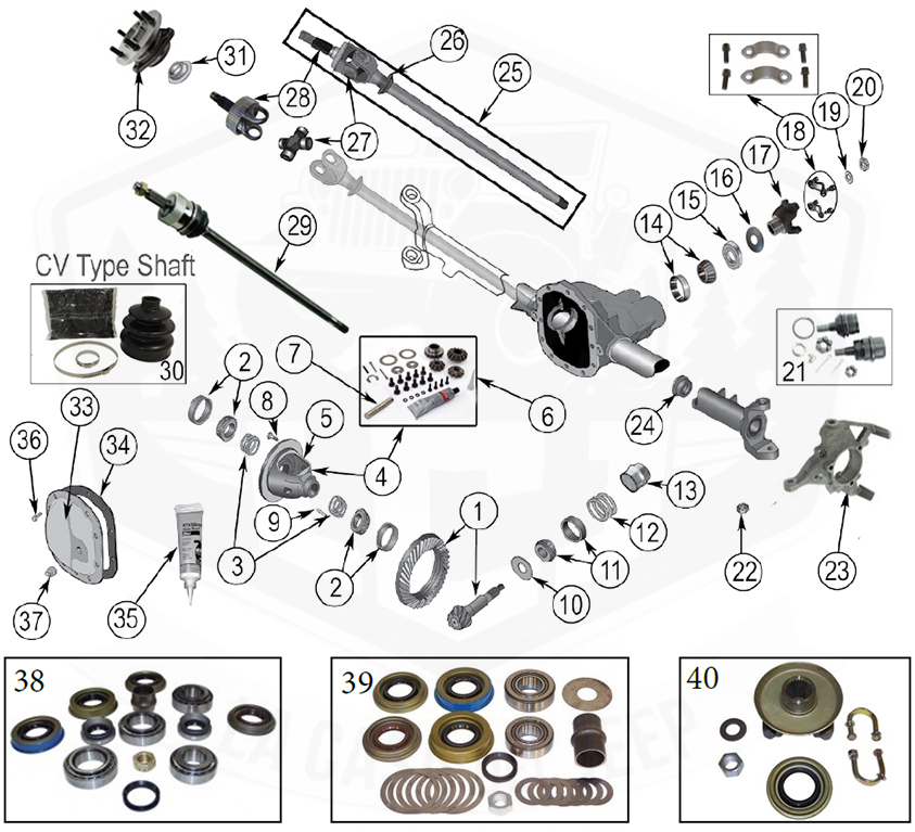 2004 Jeep Grand Cherokee Front End Parts Diagram