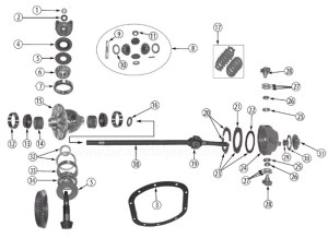 Front Axle Diagram for Dana 2527 Vintage