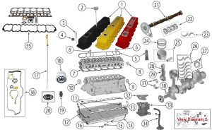 Diagrams For Jeep :: Engine Parts :: 40 L (242) AMC Engine