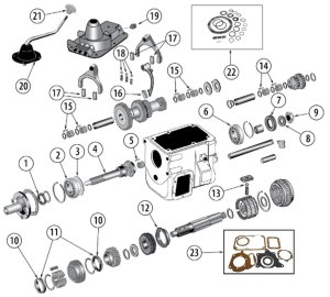 Diagrams For Jeep :: Transmission Parts :: Model T18