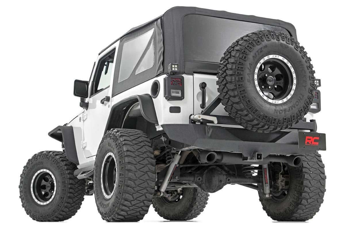 jeep dual outlet performance exhaust matte black stainless steel 2007 2018 jk wrangler