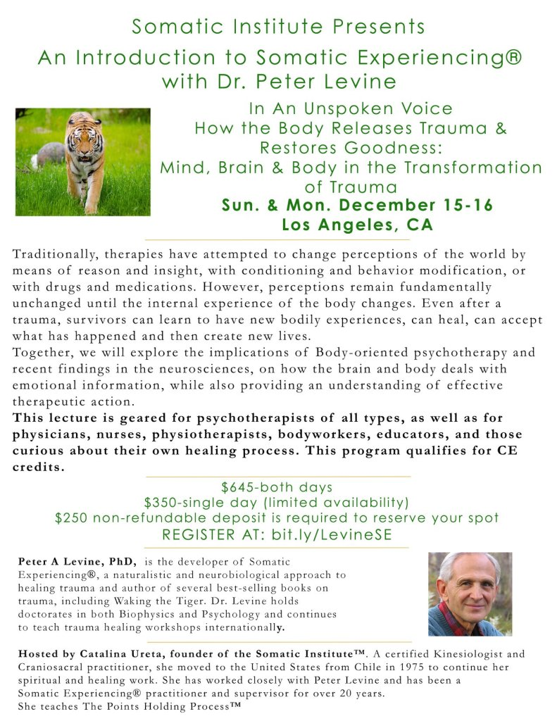 Introduction to Somatic Experiencing Workshop with Dr. Peter Levine