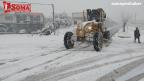 Soma Belediyesi ekiplerinden karla mücadelede canla başla mücadele