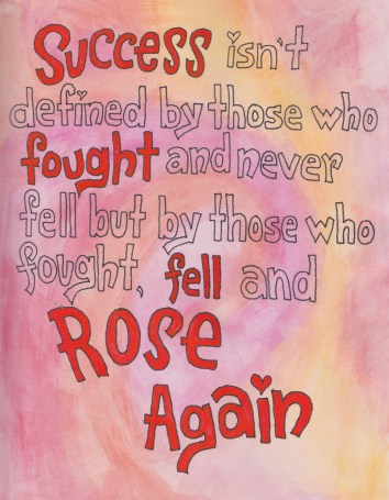 fell and rose again