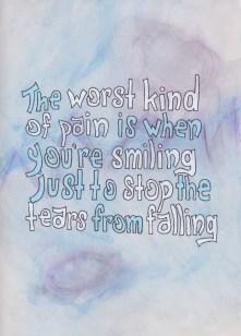stop tears from falling