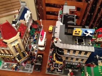 Bird's eyeview of Lego Town. Eporium on the right