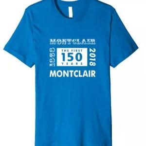 Montclair 150th Anniversary Retro Style Premium T-Shirt in Royal Blue