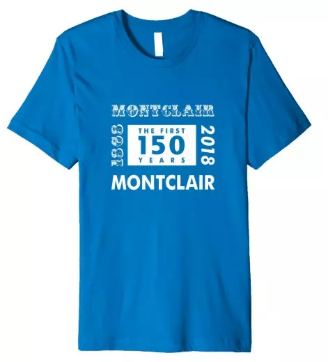 Montclair 150th Anniversary Retro Style Premium T-Shirt in Royal Blue