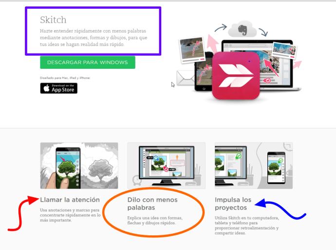 Skitch como herramienta de la agenda digital Evernote - usos