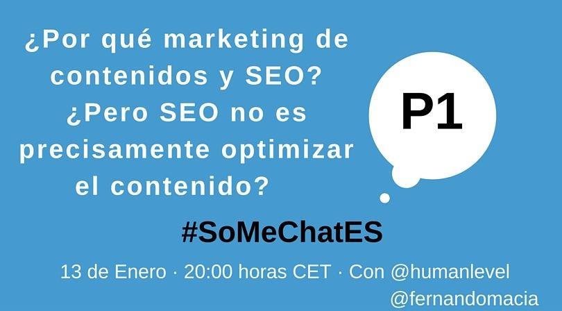 #SoMeChatES pregunta 1 Twitter chat Fernando Maciá