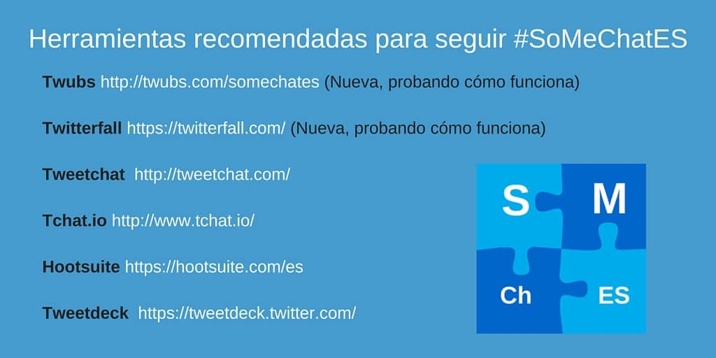 Herramientas recomendadas Twitter chats