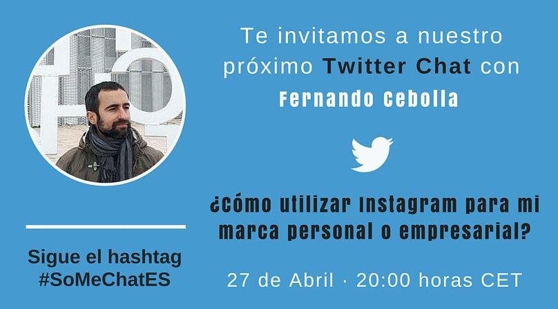 Utilizar Instagram - Twitter chat Fernando Cebolla