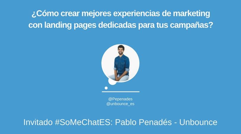 Cómo usar landing pages - Twitter chat Pablo Penadés