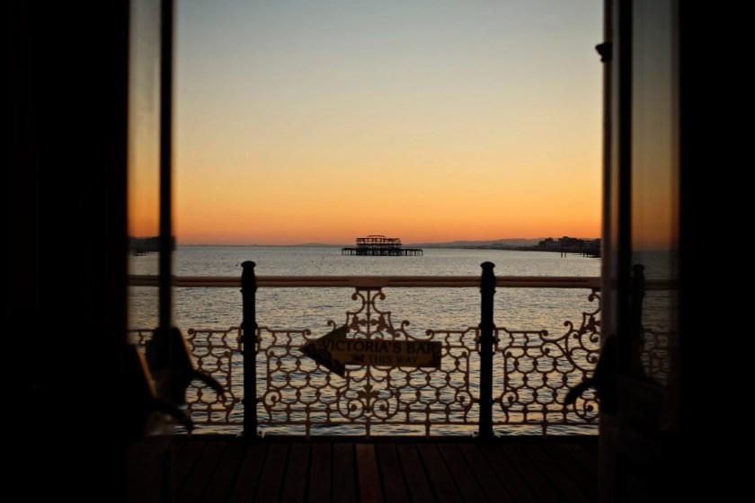 Sunset over West Pier