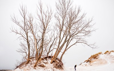 Snow and Sand at Sleeping Bear Dunes