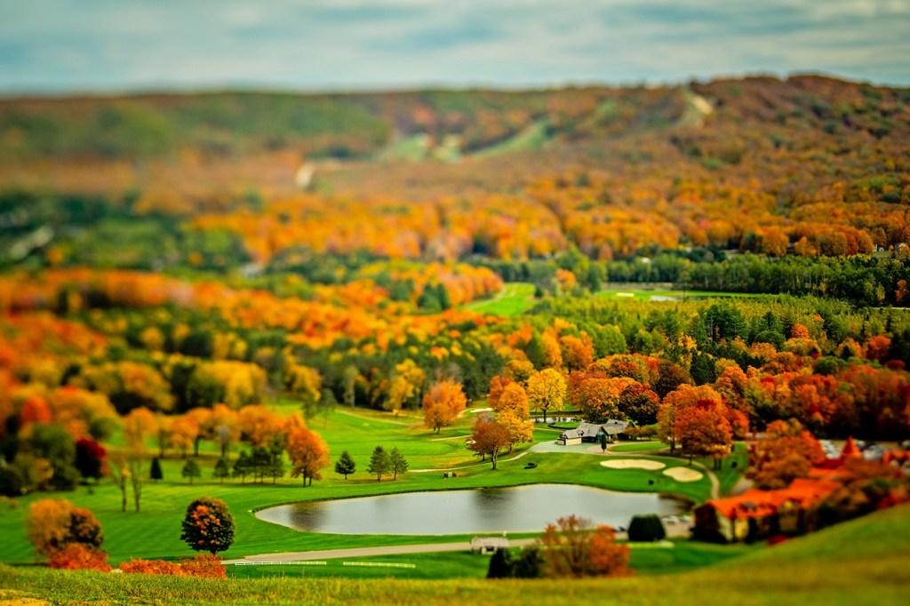 Autumn view at Boyne Highlands.