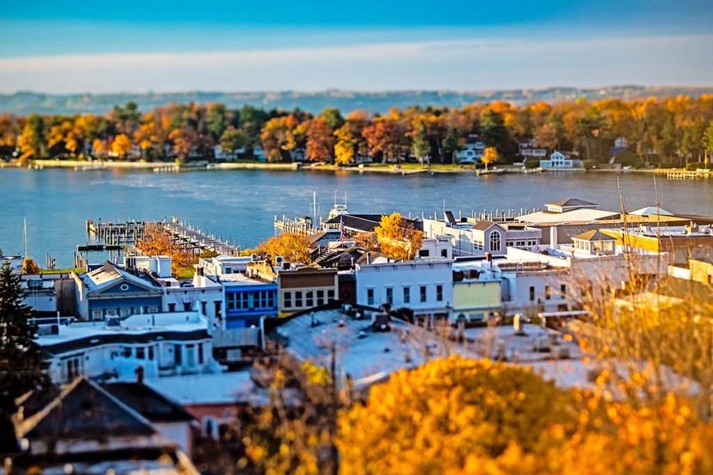 Harbor Springs in the fall.