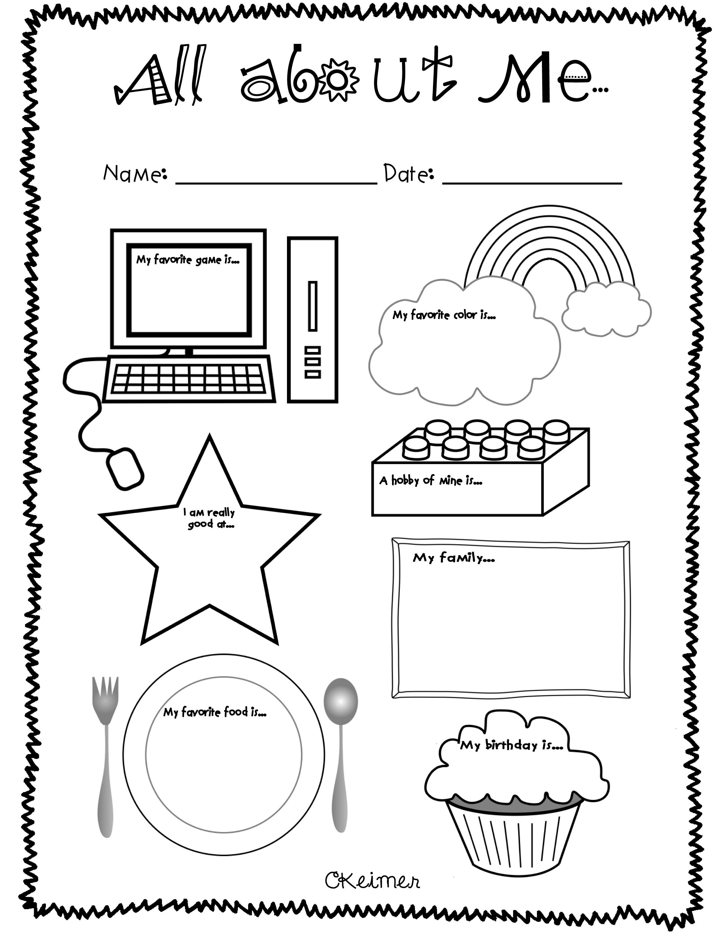 All About Me Activities A Multiple Intelligences