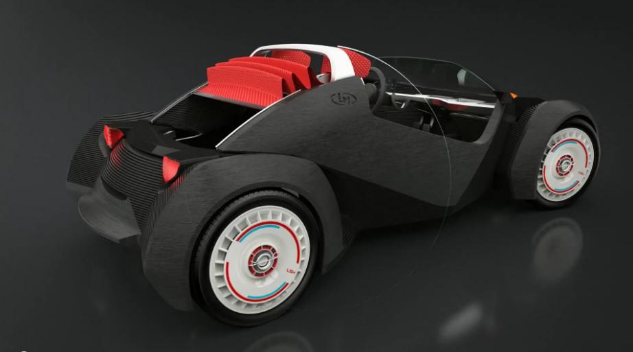 local motors Strati 3d printed electric car rear
