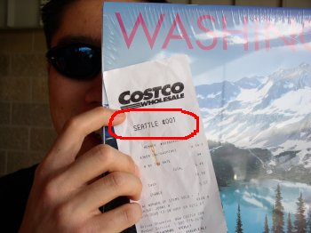 Jerry and Costco store #1 receipt