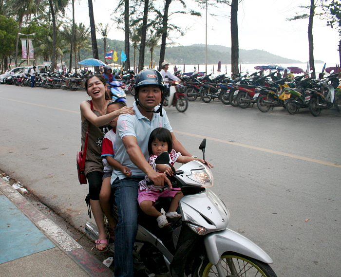 Load up the family moped