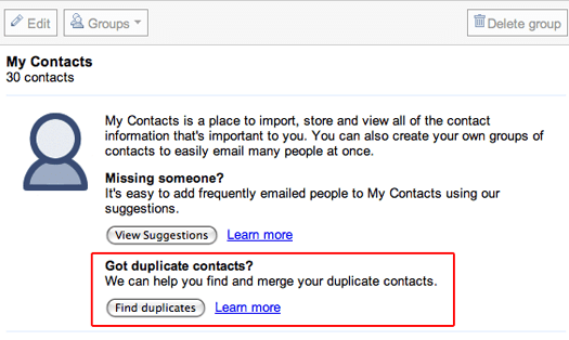Merge All Duplicate Contacts in Gmail