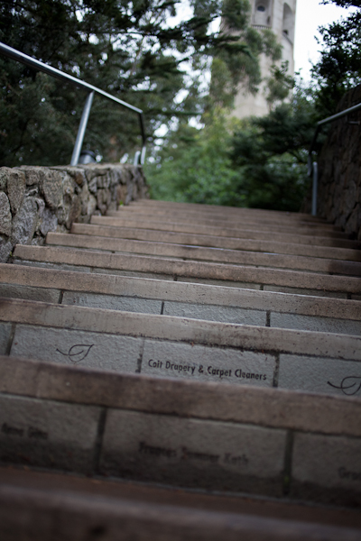 Stairs to Coit Tower