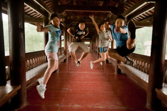 jumping at the ethnic minority park