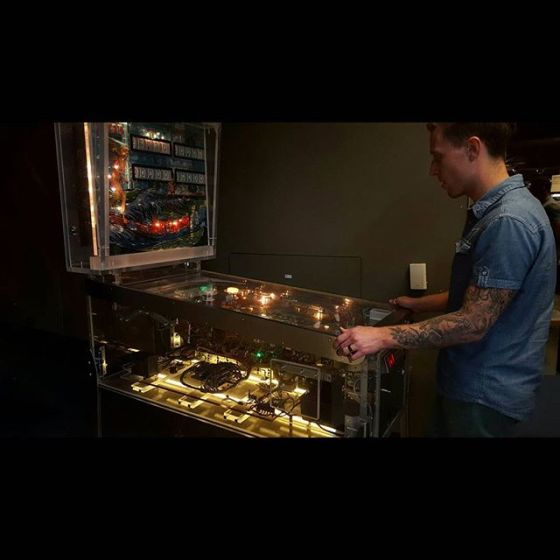A see-through pinball machine? I could use one in my house. #thatsleevetho - from Instagram