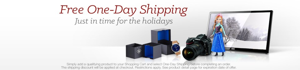 Free One-Day Shipping (Amazon.com)