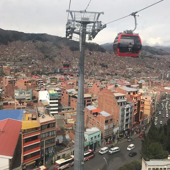 Gondola ride over La Paz
