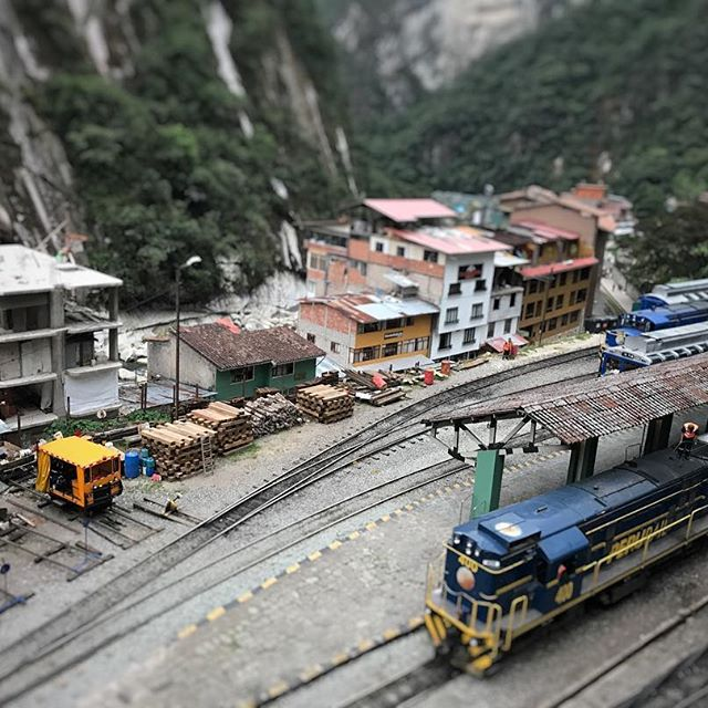 #train station at Aguas Calientes, Machu Picchu