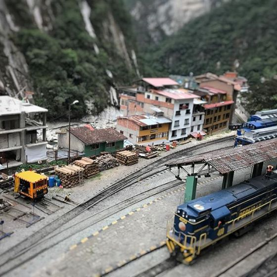 #train station at Aguas Calientes, Machu Picchu