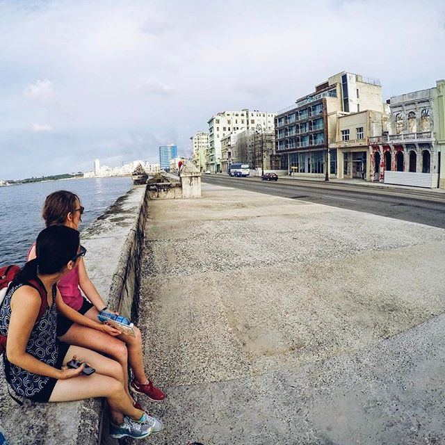 Sitting in front of the  computer, reminiscin' about the #malecon