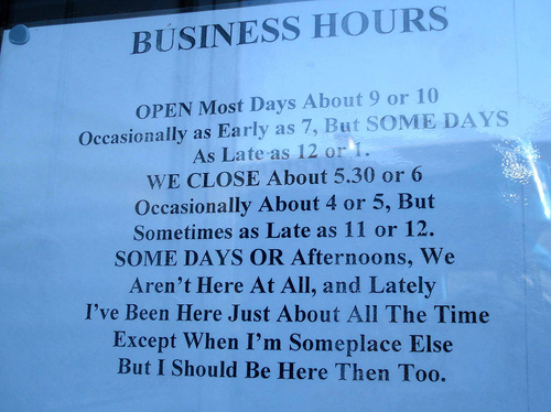 good business hours