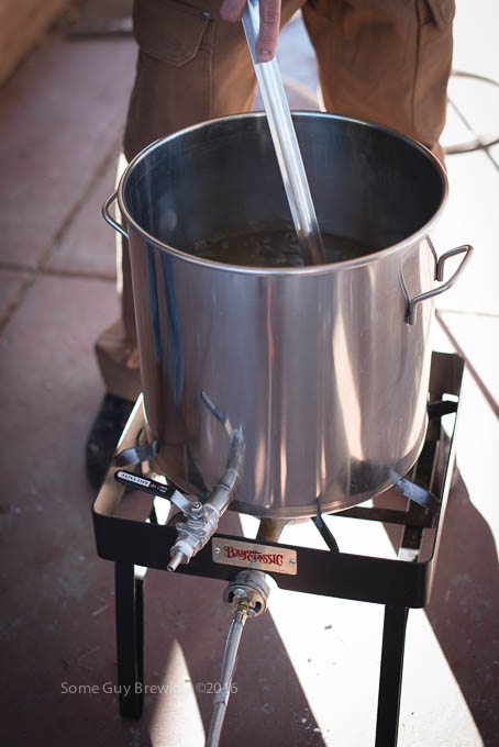 Heating strike water for mash to 168°F