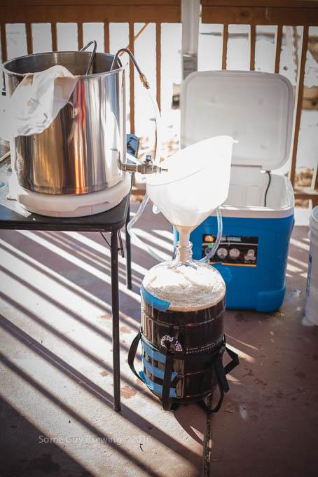 Transferring to fermenter
