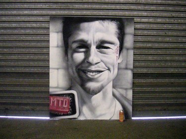 MTO (Graffiti Street art): Fight club
