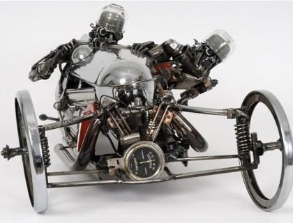 Esculturas de sucata de carro