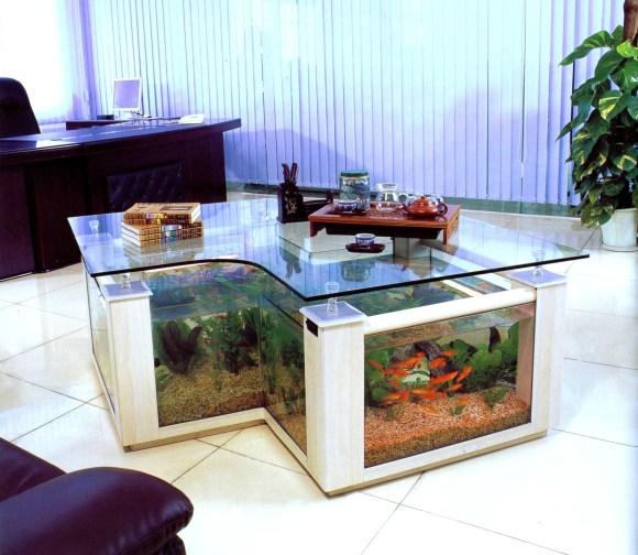 Aquário Mesa de Centro: para a sala de estar
