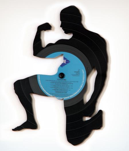 Arte com discos de vinil decoraç u00e3o retr u00f4